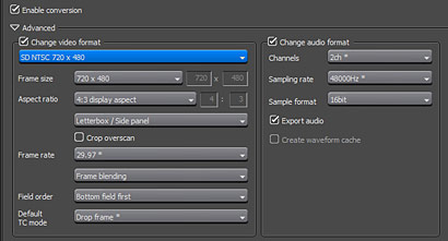 New Project Exporter Interface